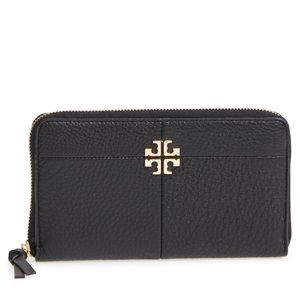 Ivy Leather Continental Wallet TORY BURCH